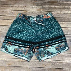 🆕Billabong Beach Shorts Green & Orange